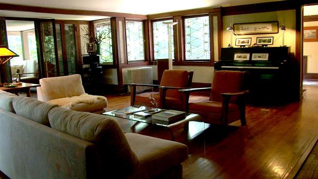 宽敞的空间和充足的光线是Frank Lloyd Wright家的标志性特征。
