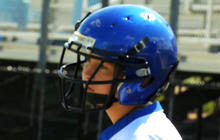 High-tech football helmets designed to protect players