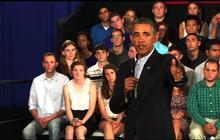 """Obama: """"I'm a testament"""" to racial progress"""