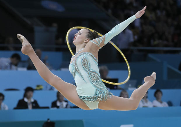 Rhythmic gymnasts seem to defy physics