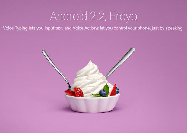 Google's sweet Android nicknames
