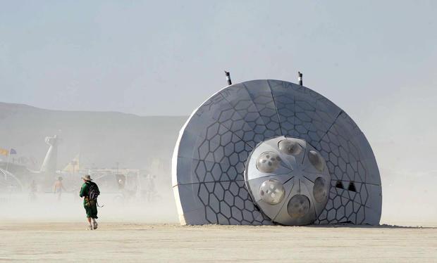 The surreal landscape of Burning Man 2013