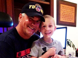 P.J. Schrantz lost his son Dustin to leukemia.
