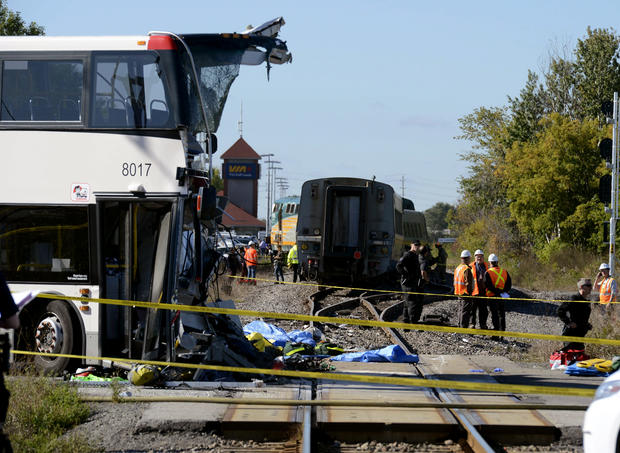 Deadly train-bus collision in Canada
