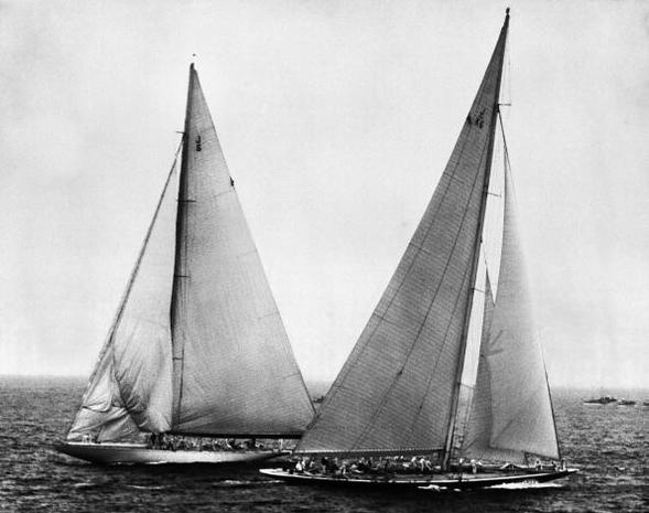 America's Cup yachts: Then and now
