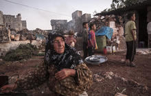 Displaced Syrians live in ancient ruins