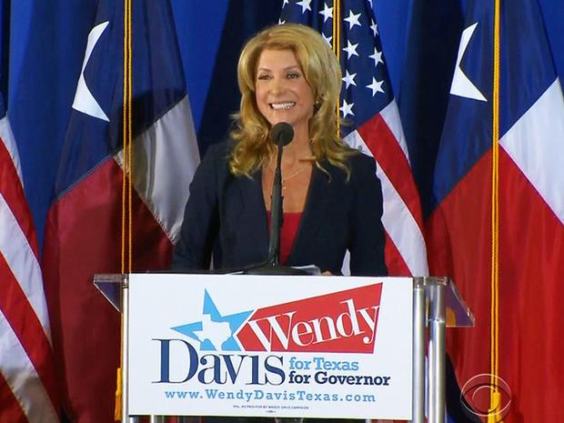 温迪戴维斯宣布她竞选州长。