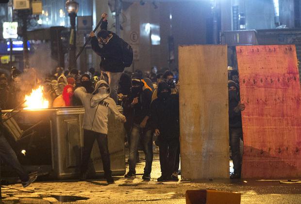 Brazil protests turn violent