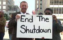 Furloughed VA workers protest in N.C.
