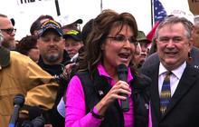 Palin lauds veterans, decries shutdown's monument closures