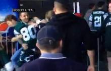 Jets fan punches female Patriots fan