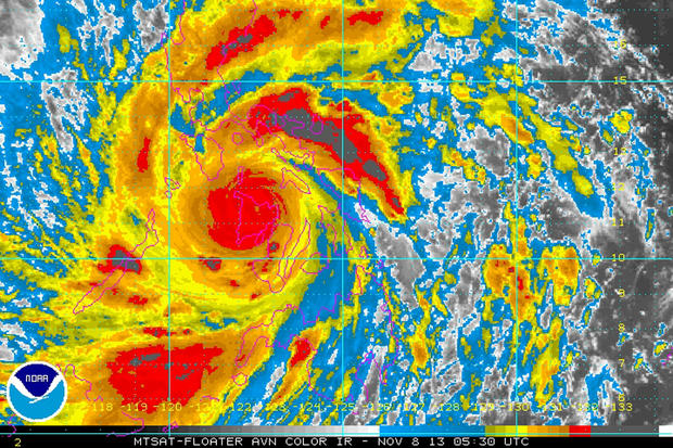 Powerful typhoon slams Philippines