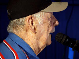 Ed Bray has taken up karaoke since he learned to read.
