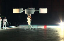 Lady Gaga takes her wardrobe to new heights