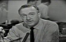 Cronkite breaks news of President Kennedy's death