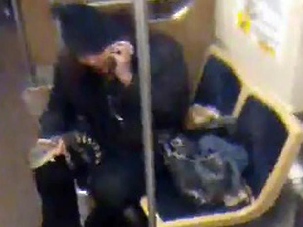 2013年11月1日,在2013年11月13日CTA提供的安全摄像机图像中,芝加哥交通管理局蓝线列车上的芝加哥交通管理局蓝线列车上有一名长2英尺的鳄鱼女子。