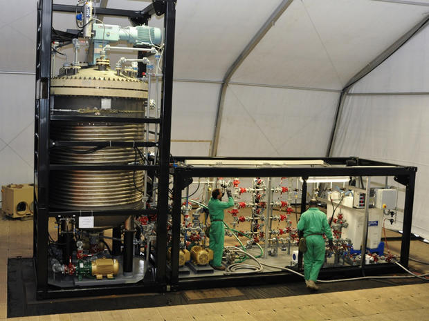 The hydrolysis unit of the U.S. military's Field Deployable Hydrolysis System