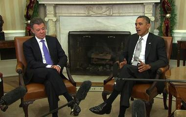 "Obama lauds ""Colombia's influence on the world stage"""