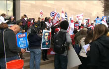 Fast food workers across the U.S. stage protest for higher wages