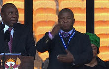 Alleged fake sign language interpreter at Mandela's memorial