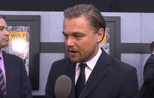 "Leo DiCaprio plays corrupt stockbroker in ""The Wolf of Wall Street"""