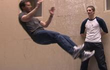 Wall Trampoline: Jeff Glor learns new sport - WEB EXTRA