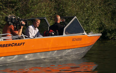 Searching for Maddy Scott by sonar boat