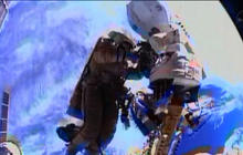 Russian spacewalk ends with camera failure
