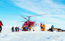 Passengers airlifted off icebound ship