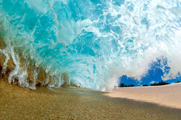 Shooting in the waves