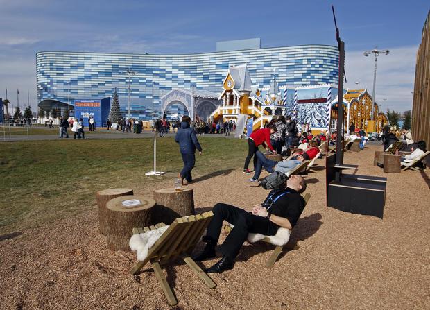 Sunbathing in Sochi