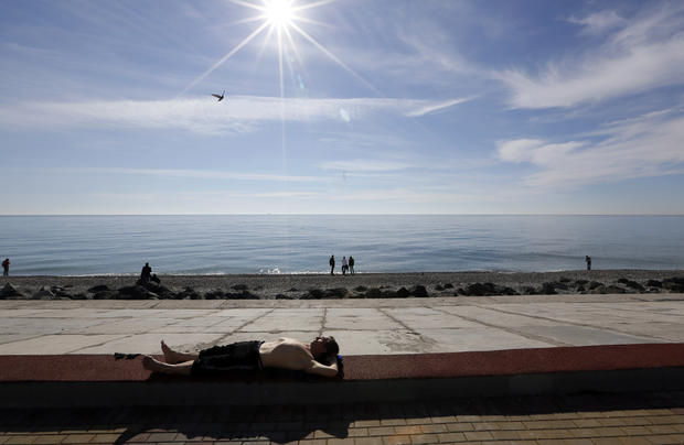 Sunbathing in Sochi