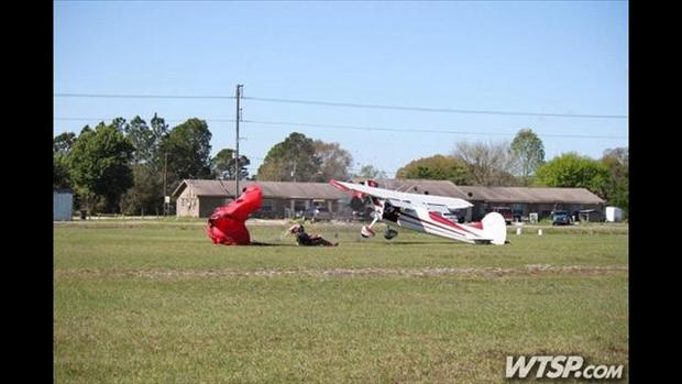 Plane and skydiver collide in Florida