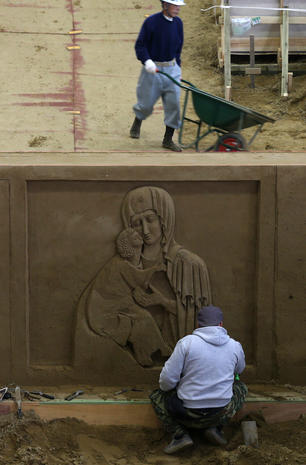 Russia's essence, captured in sand