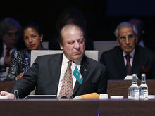 Pakistan's Prime Minister Mohammad Nawaz Sharif attends the opening session of a Nuclear Summit in The Hague
