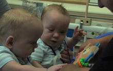 Once-conjoined twins head home from hospital