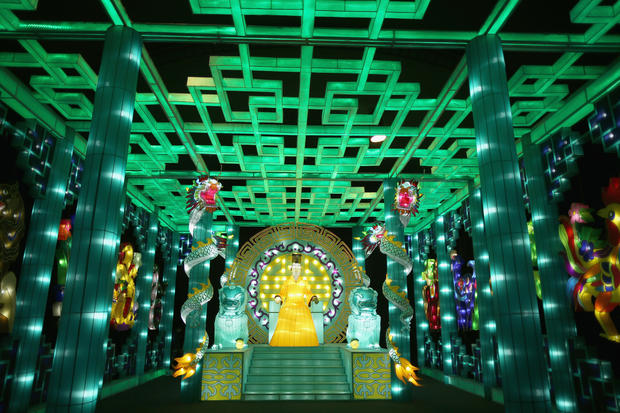Massive illuminated park opens in England