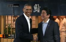 President Obama joins Japan's prime minister for sushi