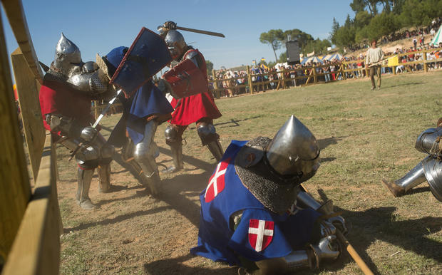 Modern day knights have showdown in Spain
