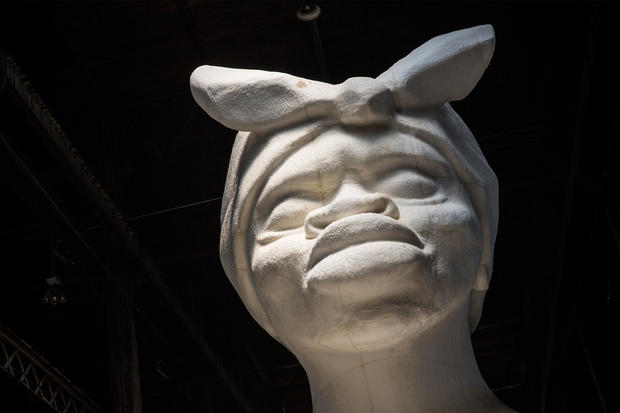 Large scale sugar-coated sculpture in Brooklyn
