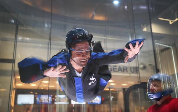 Skydiving indoors