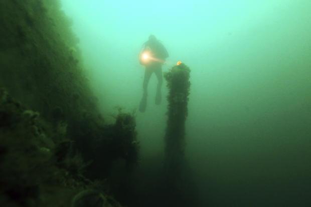 Exploring sunken warships