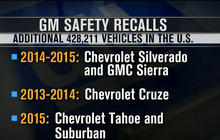 General Motors announces three more recalls