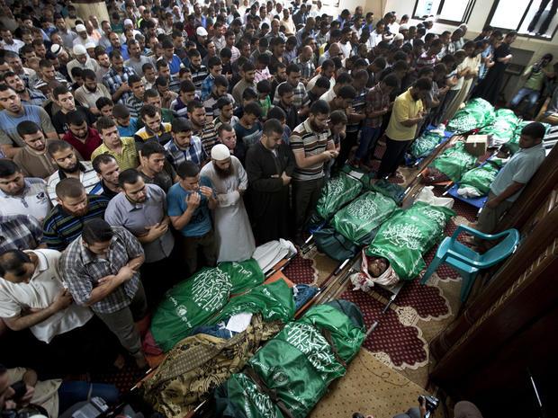 palestinians gaza funeral