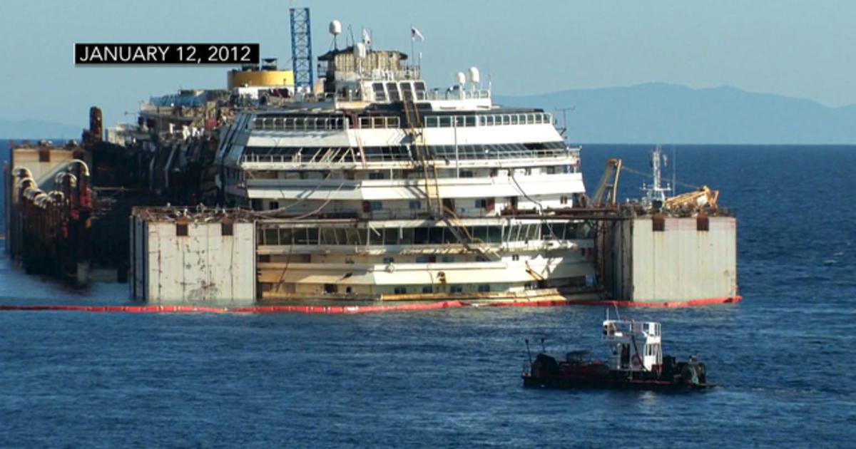 Costa Concordia Cruise Ship Moved From Tragic Crash Site