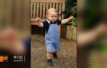 Prince George takes first steps