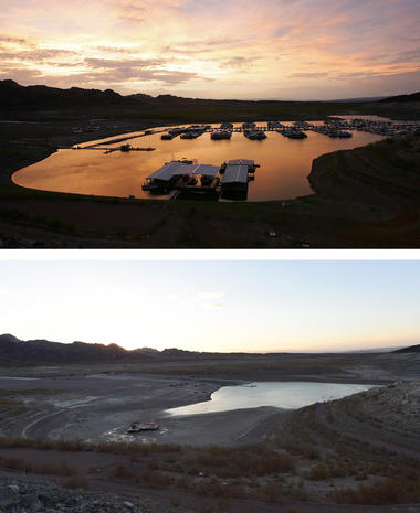 The low waters of Lake Mead