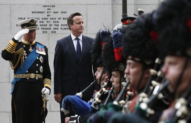 Royal family commemorates the start of World War I