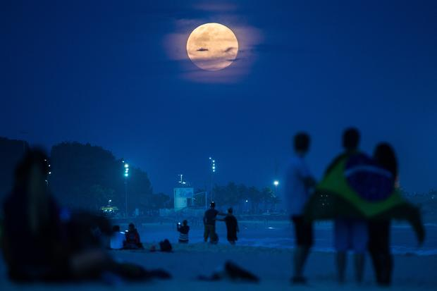 Supermoon lights up the night sky