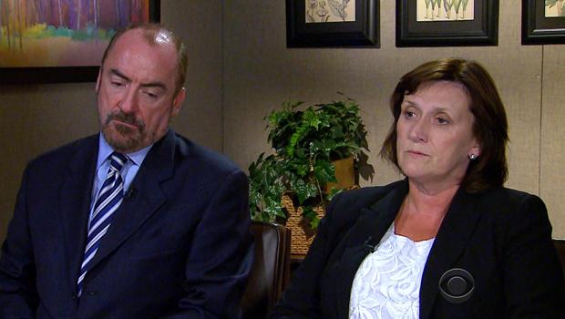Rory Staunton的父母Ciaran,左,和Orlaith Staunton